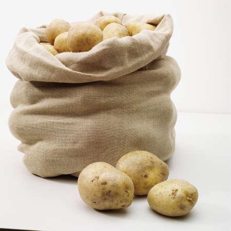 smale bag of potoatos Stock Photo