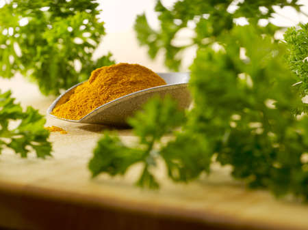 curry on a scoop with parsley