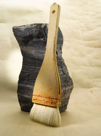 Hand made brush Stock Photo