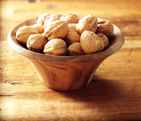 walnuts in sunny lighting Stock Photo