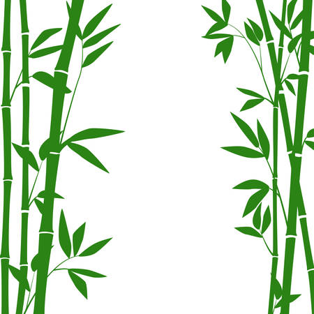 bamboo stems and leaves for graphic design. Illustration