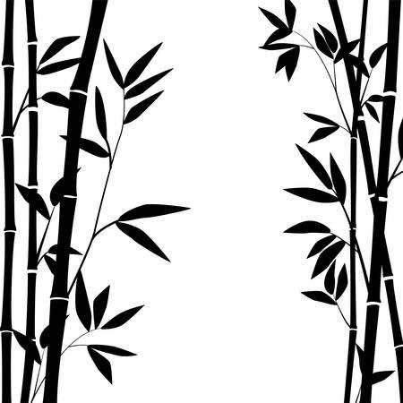 Bambusstämme und -blätter für Grafikdesign.