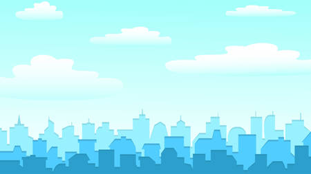 city background with buildings silhouettes. Illustration