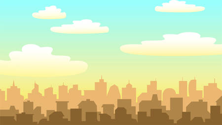 city background with buildings silhouettes. EPS-10 Illustration