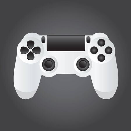 joypad: Game Console on the black background. Vector illustration.