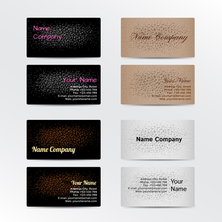 leather background: Set of Business Cards with Leather Background. Vector Illustration EPS10 Illustration