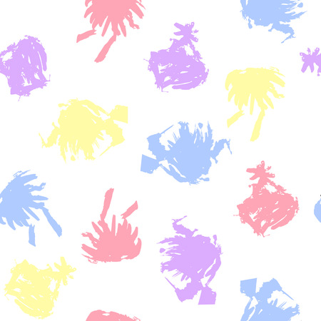 watercolor paper: Pastel Colored Blots on White Background. Vector Illustration EPS10 Illustration