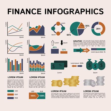 eps8: Set of Financial Infographics Elements. Vector Illustration EPS8