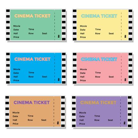 blockbuster: Set of colored cinema tickets. Vector illustration EPS10 Illustration