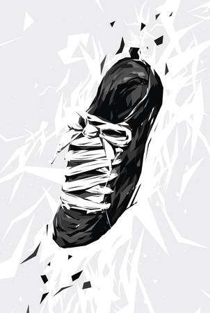 Schwarz Sneaker Illustration