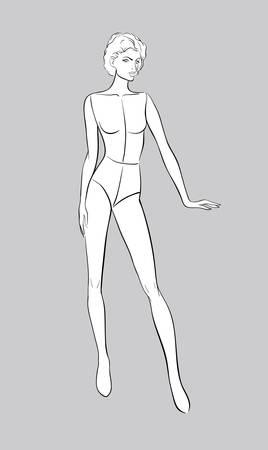 Female figurine for fashion design