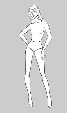 Female figurine for fashion design Stock Vector - 15565093