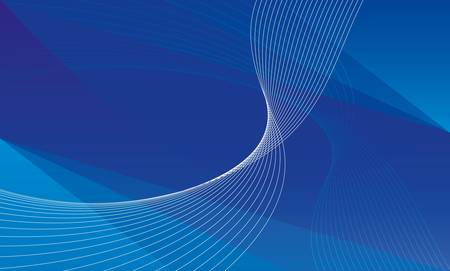 Abstract blue background with white and bright blue splines Illustration