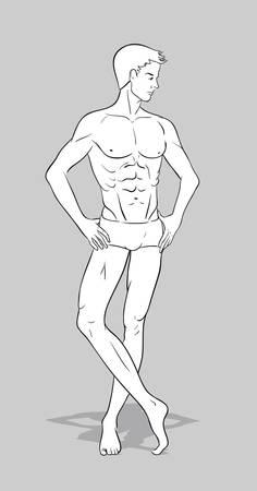 young male model: Male figurine for fashion design