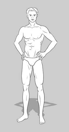 male model: Male figurine for fashion design
