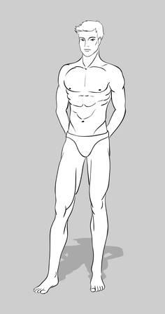 Male figurine for fashion design Stock Vector - 15834776