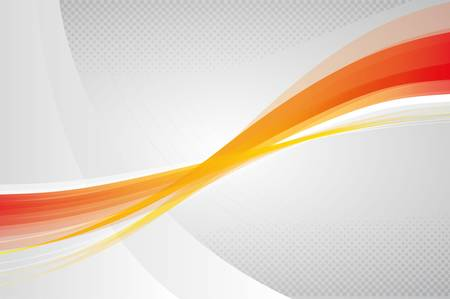 saturated color: Abstract background with orange and yellow waves