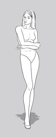 Female figurine for fashion design Vector