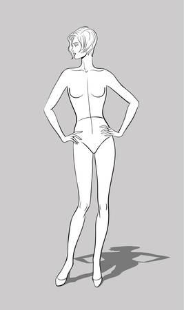 Female Fashion Figurine Stock Vector - 16513280