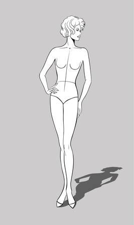 Female Fashion Figurine Stock Vector - 16513278