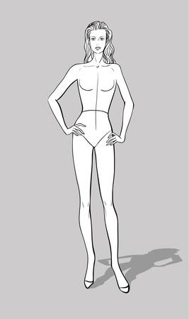 Female Fashion Figurine Ilustrace