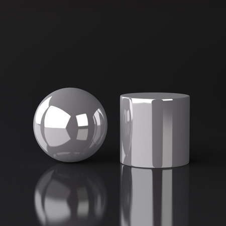 Sphere and Cylinder Stock Photo - 17995625