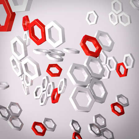 Molecular structures Stock Photo - 17995640