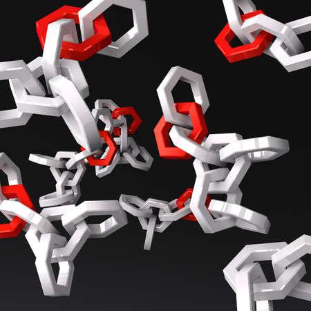Molecular structures Stock Photo - 17995635