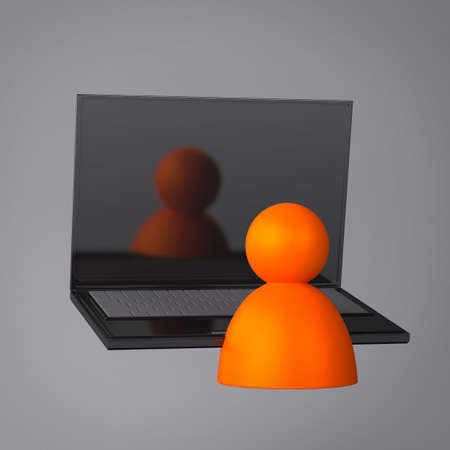 Laptop and User Stock Photo - 18081960