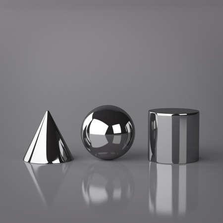 Cone, Sphere and Cylinder Standard-Bild