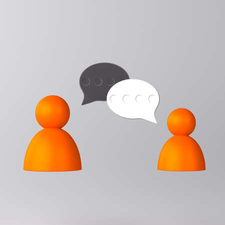 Conversation between people icon