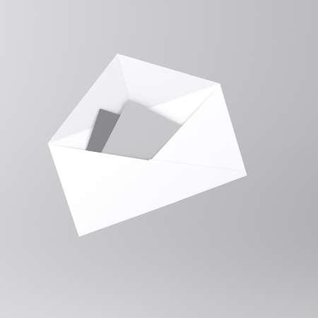 Envelope with letter icon  Standard-Bild