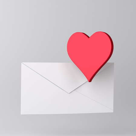 Envelope and heart icon  photo