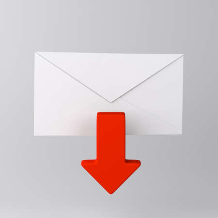 Envelope and red arrow icon
