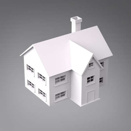 3D House Perspective View photo