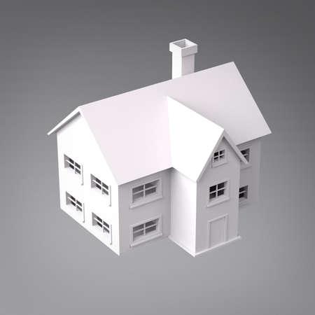 3D House Perspective View Standard-Bild