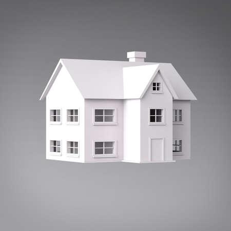 3D Haus drei Viertel Ansicht Standard-Bild - 18454660