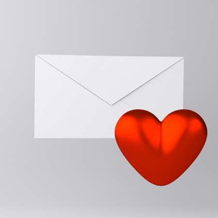Umschlag und Herz-Symbol Standard-Bild - 18454666