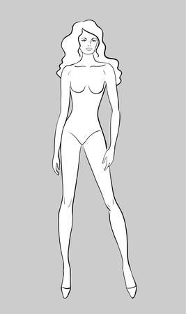 Female Fashion Figurine Vector