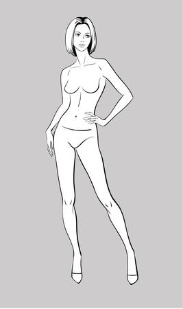 Female Fashion Figurine Illustration