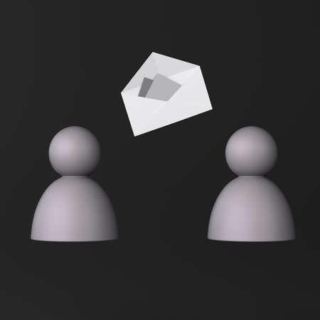 correspondencia: Correspondencia icono en negro
