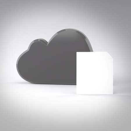 Cloud computing internet security concept and letter