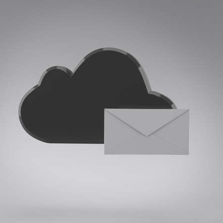Cloud computing internet security concept and envelope photo