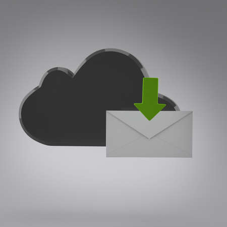 Cloud computing internet security concept and envelope