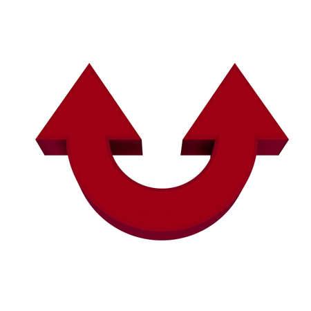 Red arrows Standard-Bild