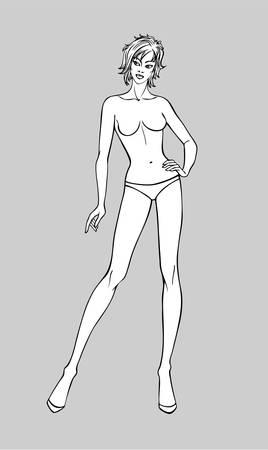 Female Fashion Figurine Illustration