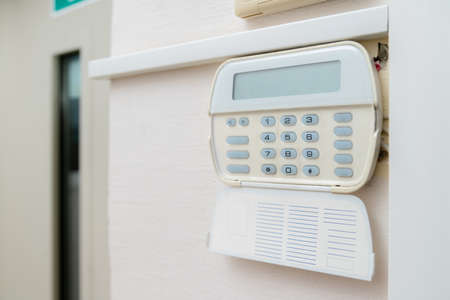 Alarm system in an apartment, house of business office. Surveillance and protection console against rubbery and theft