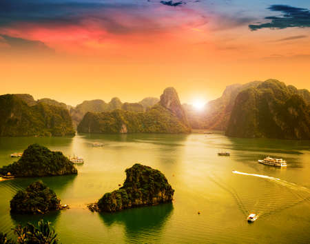 ocean water: Halong bay in Vietnam