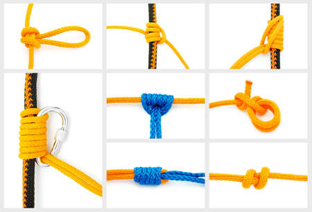 boating: knots collage