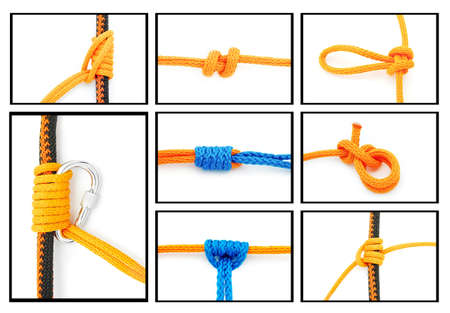 belay: knots collage